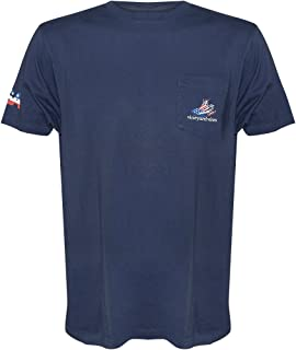 Vineyard Vines Mens Short Sleeve Graphic Pocket Tee Shirt (Blue Blazer/American Sport Fisher, Small)