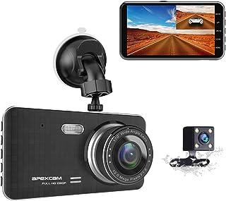 Caméra de Voiture, Apexcam Dashcam Double Objectif Voiture Enregistreur de Conduite..