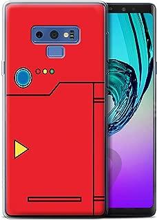 Phone Case for Samsung Galaxy Note 9/N960 Anime Cartoon Codex Red Design Transparent Clear Ultra Soft Flexi Silicone Gel/TPU Bumper Cover