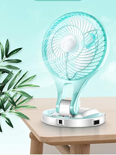 GADGETRONICS Powerful Rechargeable High Speed Table Fan with Two Mode Low and High Brightness LED Light And 2 Speed Strong Wind Low Noise table fans for home table kitchen Office Multicolor