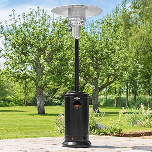 Harrier Mushroom Gas Patio Heater - 12kW Portable Gas Heater | Patio Heaters for Garden Accessories Outdoor | Outdoor Heater Compatible with Propane, Butane & LPG…