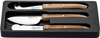 Laguiole Style de Vie Innovation Line - Juego de cuchillos para queso (3 piezas, madera de roble)