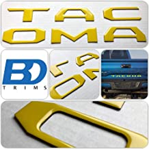 BDTrims Domed Tailgate Letters Inserts fits 2016-2020 Tacoma Models (Yellow)