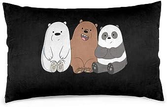 Mniunision Cool We Bare Bears غطاء وسادة من القطن والبوليستر غطاء وسادة أريكة ديكور المنزل
