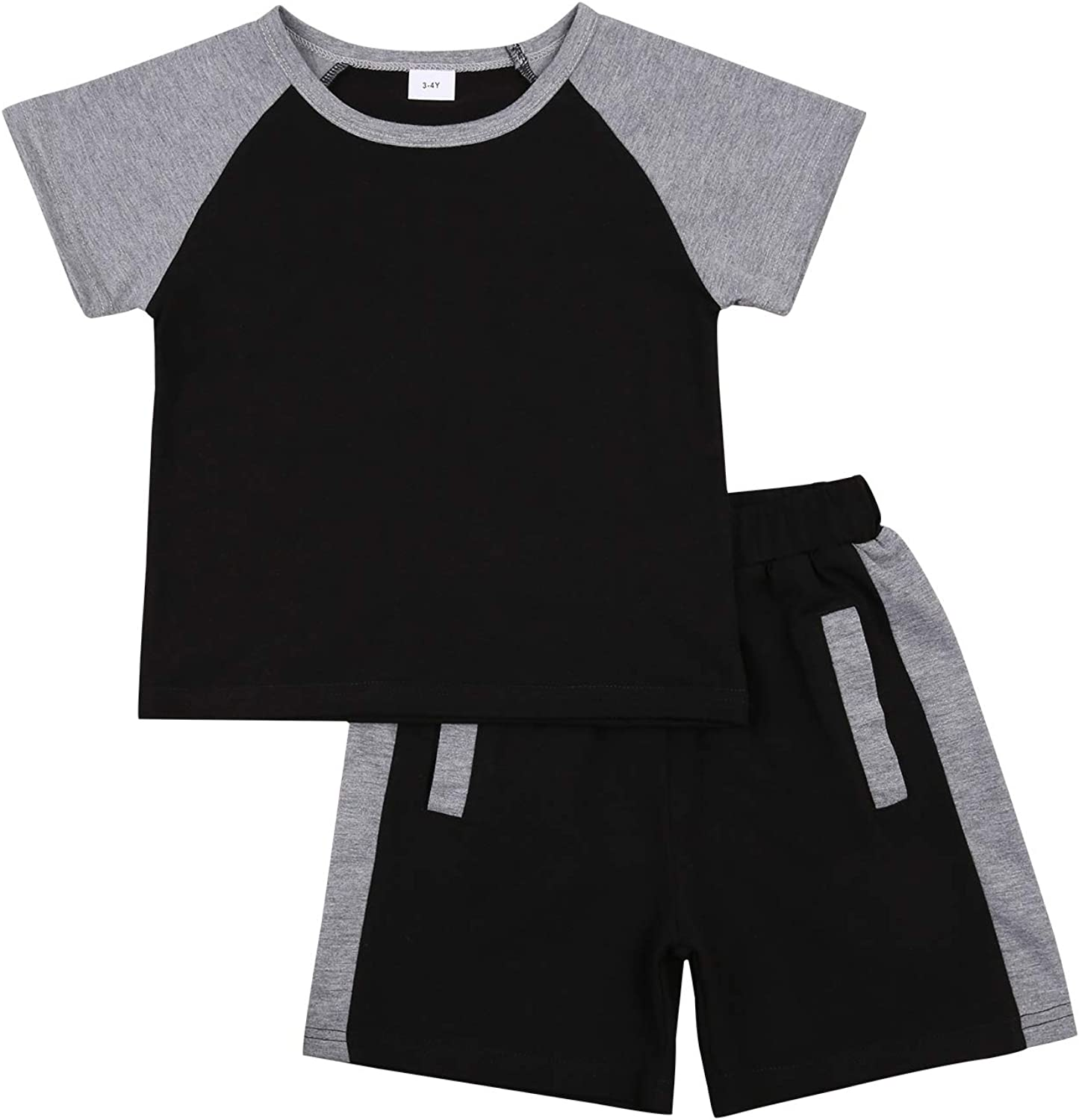 Toddler Baby Boy Summer Clothes Short Sleeve T Shirt Top Shorts Sweatsuit Pants Tracksuit Outfits Set
