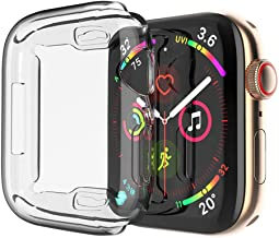 Toosunny Case for Apple Watch 5/4 Case 44mm, 2019 New iWatch Built-in Screen Protector Overall Protective Case TPU HD Clear Ultra-Thin Cover for Apple Watch Series 5 / Series 4 (2 Pack) (44 mm)