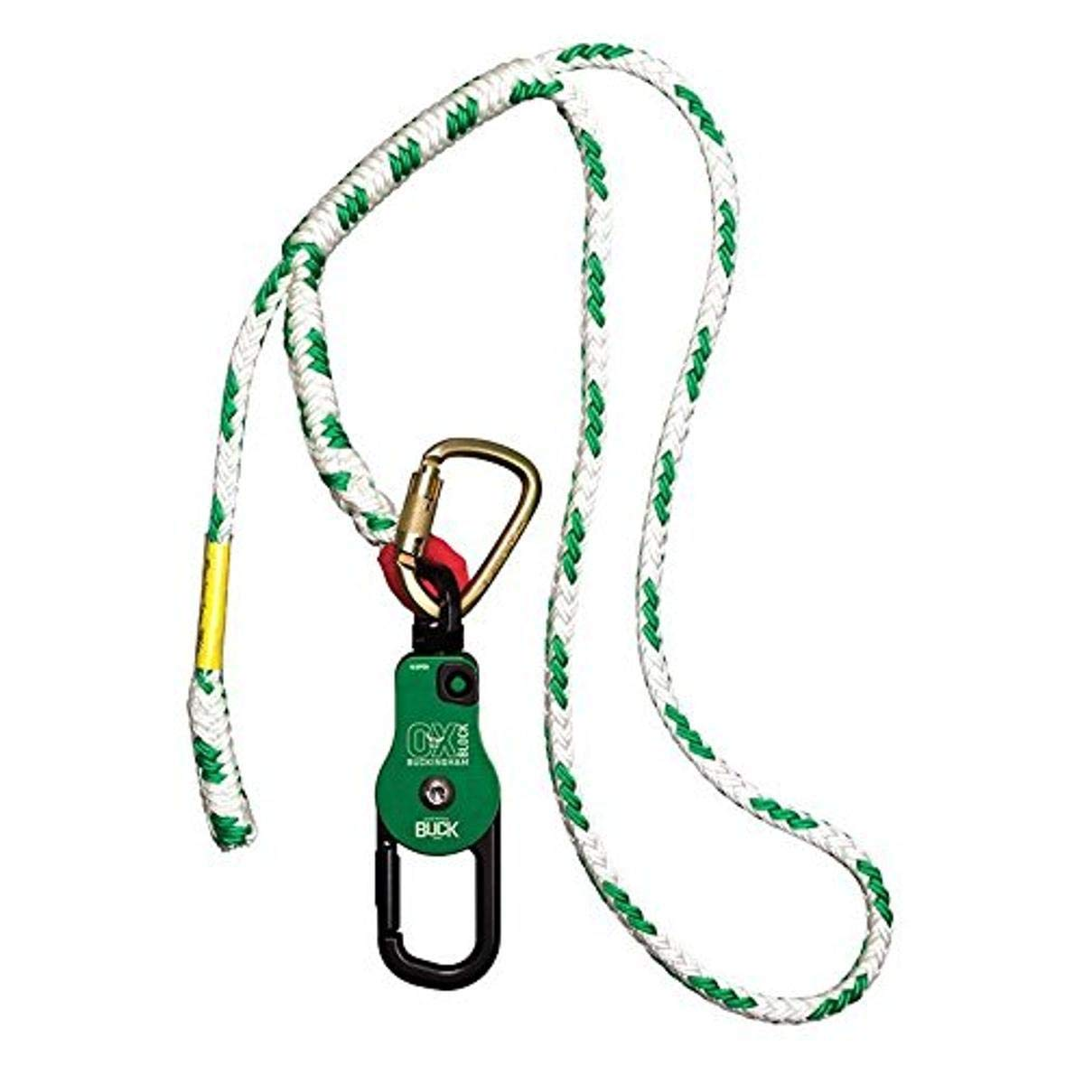 Buckingham 50061A-4 Ox Block with Miami Mall Adjustable Fees free and Carabiner Sling