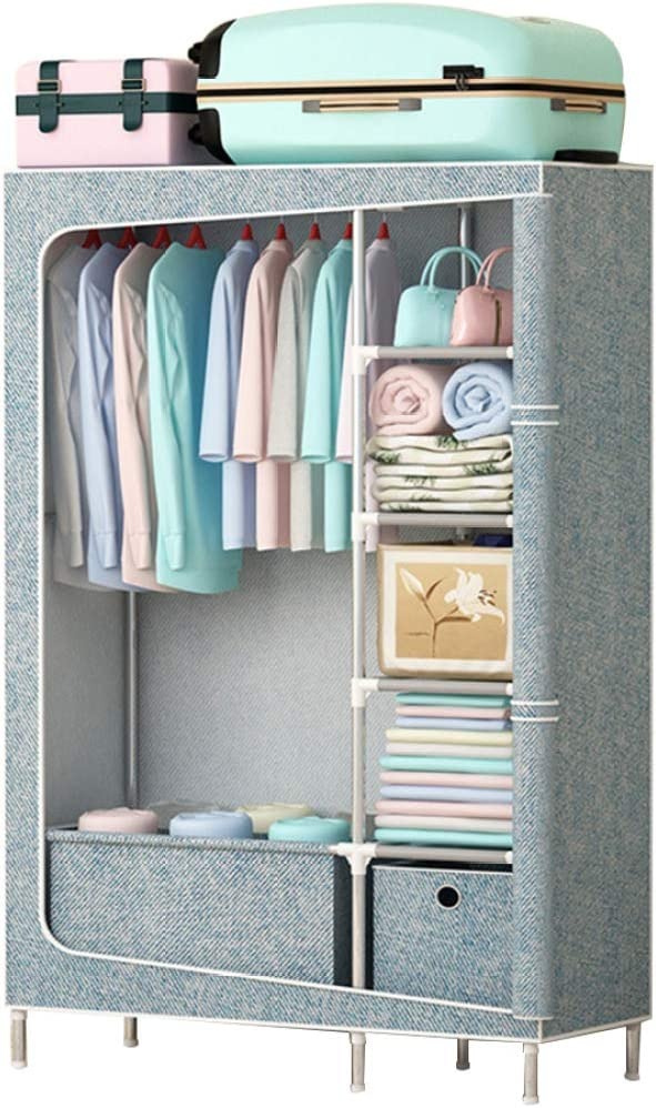 NEW before selling ☆ MFASD Portable Clothes Closet Storage Be super welcome Standing Wardrobe