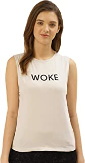 BESIVA Women's Organic Cotton White Woke T-Shirt
