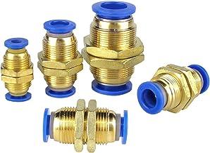 Hardwarelager Pneumatische fittingen PM Straight Bulkhead Union Connector 4-12mm OD Slang Plastic Push in Gas Quick Connec...