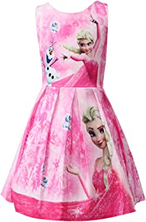 WNQY Princess Elsa Costume Party Dress Little Girls Cosplay Dress up