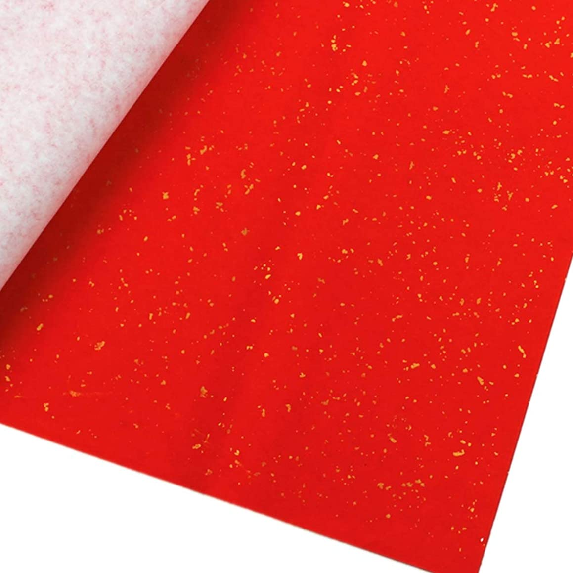 Red Raw Rice Paper Paper Cut Chinese Calligraphy Wedding Party DIY Couplet Chinese New Year Calligraphy Rice Red Paper (Golden Point)