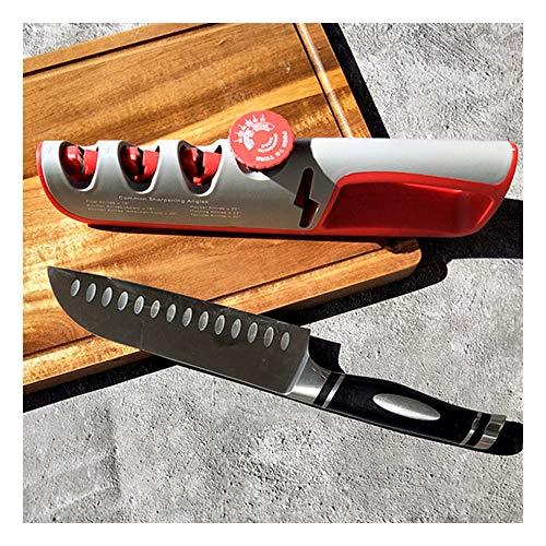 Knife Sharpener Pocket Kitchen Chef Knife & Scissors Sharpener 4 in 1 Blade Sharpening Tool Chef's Best Choice 3-Stage Knife Sharpening Tool Helps Repair and Restore Blades Kitchen Professional