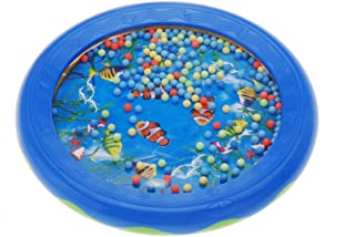 Decdeal Ocean Wave Bead Drum Gentle Sea Sound Musical Educational Toy Tool for Baby Kid Child
