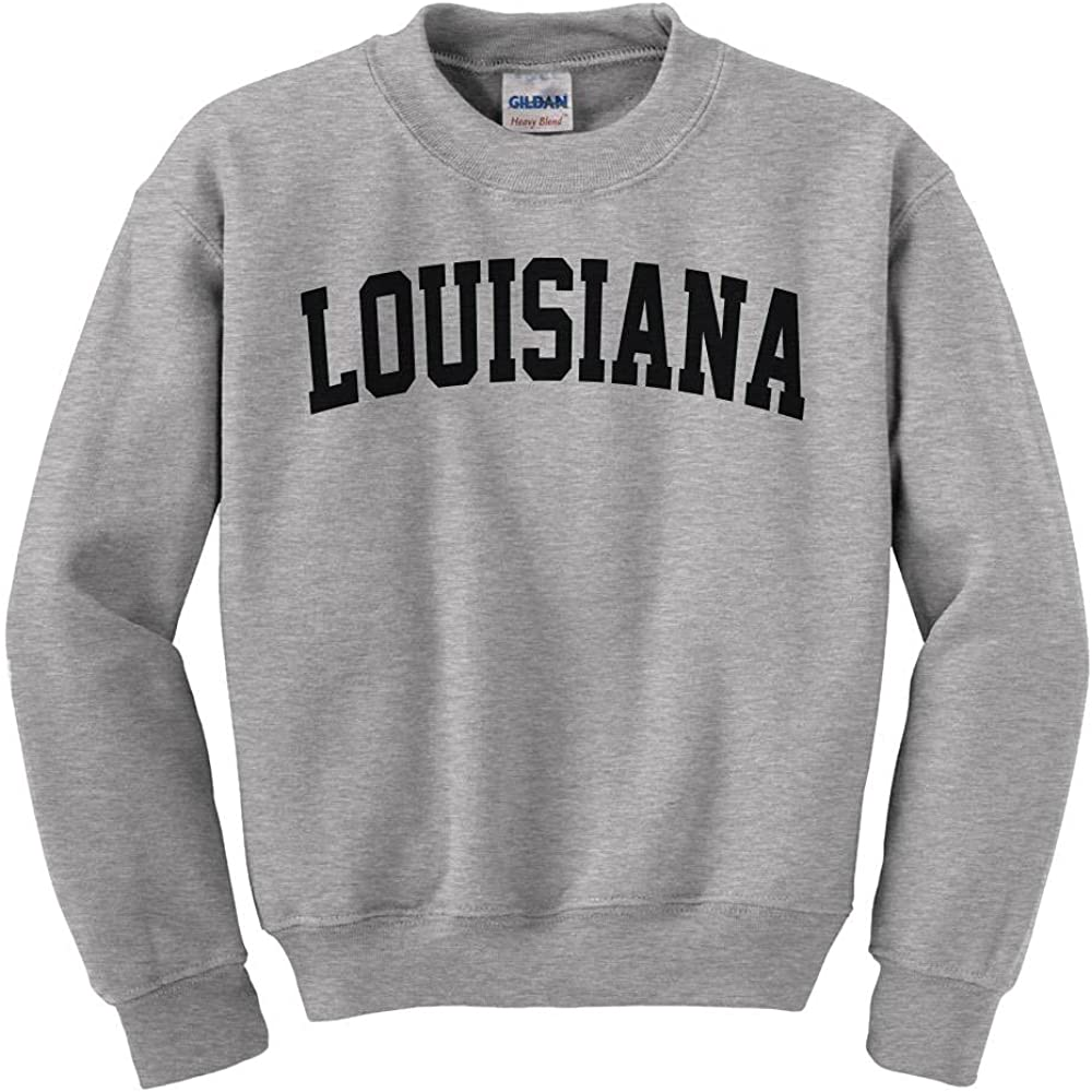 Sale Special Price Louisiana College Style Kids Inexpensive Sweatshirt Youth