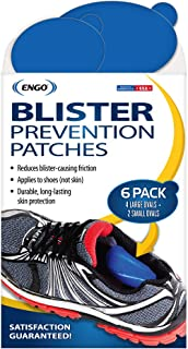 Engo Oval Blister Prevention Patches (6 Patches) | Fits in All Types of Footwear