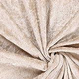 Fabulous Fabrics Pannesamt Sand – Weicher SAMT Stoff zum