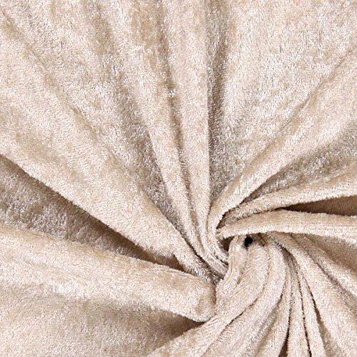 Fabulous Fabrics Pannesamt Sand – Weicher Samt Stoff zum Nähen von Kleider, Oberteile, Tücher und Tischdecke - Pannesamt Dekostoff & Bekleidungsstof- Meterware ab 0,5m