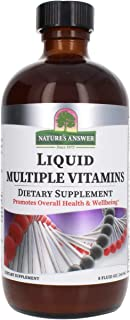 Nature's Answer Liquid Multiple Vitamins 8 Fluid Ounce | Promotes Overall Wellness | Packed with Essential Vitamins