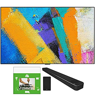 LG OLED65GXPUA 65-inch GX 4K Smart OLED TV with AI ThinQ (2020 Model) Bundle SN8YG 3.1.2 ch High Res Audio Soundbar with Dolby Atmos and Google Assistant + TaskRabbit Installation Services by LG