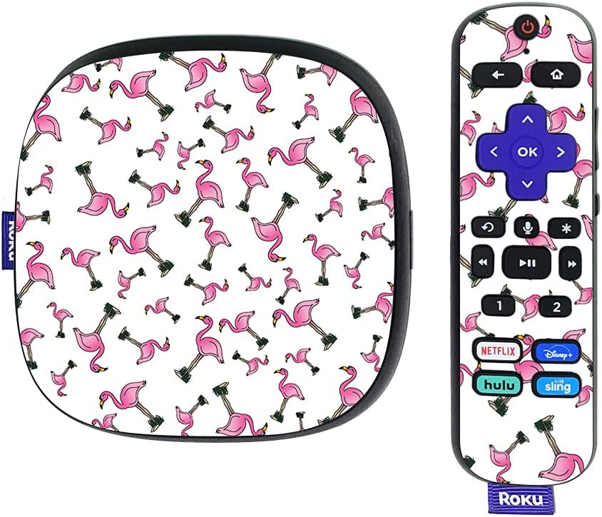 MightySkins Skin Compatible with Roku Ultra HDR 4K Streaming Media Player (2020) - Cool Flamingo   Protective, Durable, and Unique Vinyl Decal wrap Cover   Easy to Apply   Made in The USA