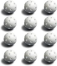 White Plastic Baseballs, 12-Pack - Bulk Set of Polyurethane Regulation Size Practice Balls for Softball, Pickleball, & Tee...