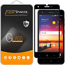 (2 Pack) Supershieldz for ZTE (Blade X) Tempered Glass Screen Protector, (Full Screen Coverage) Anti Scratch, Bubble Free (Black)