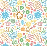 Germs Wrapping Paper Science Gift Wrap, Folded Flat 30 x 20 Inch, 3 Sheets