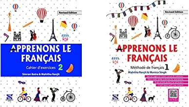 Apprenons Le Francais French Workbook 02: Educational Book & Apprenons Le Francais French Textbook 01: Educational Book (S...