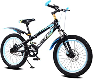 16/18/20 Inch Youth Bike Children's Bicycle 6-15 Year Old Children Mountain Bike Disc Brakes Black and Blue,16inch