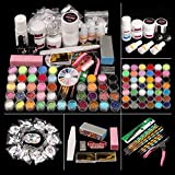 Morovan Shinny Glitter Acrylic Nail Kit Set,with Nail Flowers Monomer and Basic Acrylic Nail Art Tools Nail DIY Decoration Acrylic Nail Art Kit Gift Box Set