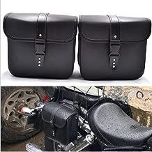 Saddlebags For Motorcycle Universal Leather PU Waterproof 7L Large Capacity Saddlebags Softailfor Scooter Honda Suzuki Yamaha HD Street Sportster