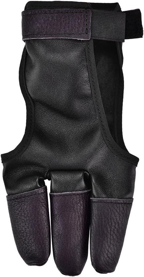 5 ☆ popular Archery Finger Super-cheap Glove Faux Cowhide Recurve Arch Bow Three
