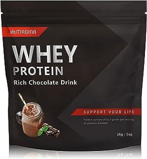 MAGINA ホエイ プロテイン リッチチョコレートドリンク 1kg 高タンパク ビタミン11種類配合 国内製造 マギナ