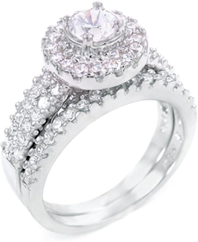 925 Silver .45 Superlatite depot ct Wedding Piece designer 2 Set ring