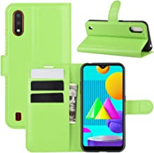 For Samsung Galaxy M01 Litchi Texture Horizontal Flip Protective Case with Holder & Card Slots & Wallet Waterproof (Color : Green)