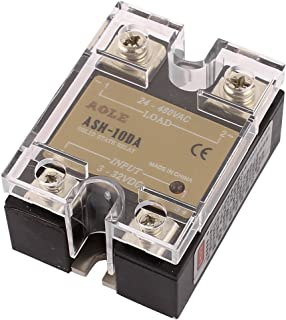 uxcell ASH-10DA 3-32VDC to 24-480VAC 10A Single Phase Solid State Relay DC to AC Relay Authorized