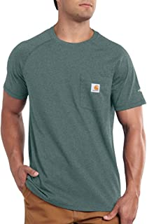 Carhartt Men's Force Cotton Delmont Short Sleeve T-shirt...