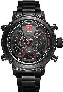 WEIDE WH6905 Dual Display Two Movement Quartz Digital Men Watch 3ATM Waterproof LCD Backlight Luminous Sport Dual Time Zon...