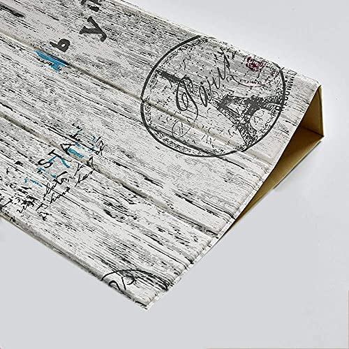 Lebensaccessoires 3D Art House Tapete/Holzmaserung Wanddekoration Antikollisionsschaum Wandaufkleber Wohnzimmer/Schrank/TV Hintergrund E.