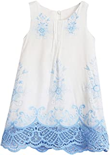 Lurryly 2019 Baby Girls Cute Princess Lace Dress Sleeveless Embroidery Dresses