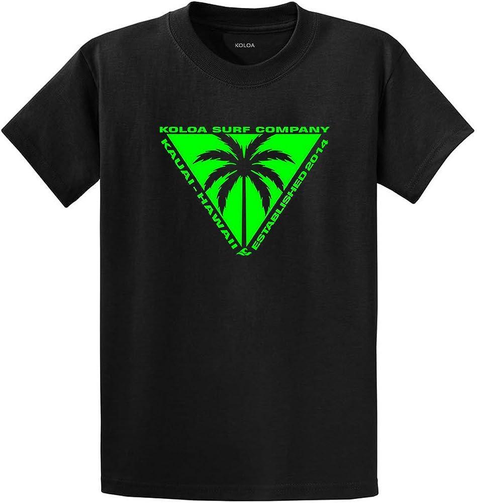 Koloa Surf Triangulated Palm Logo Heavyweight Tees Reg, Big and Tall