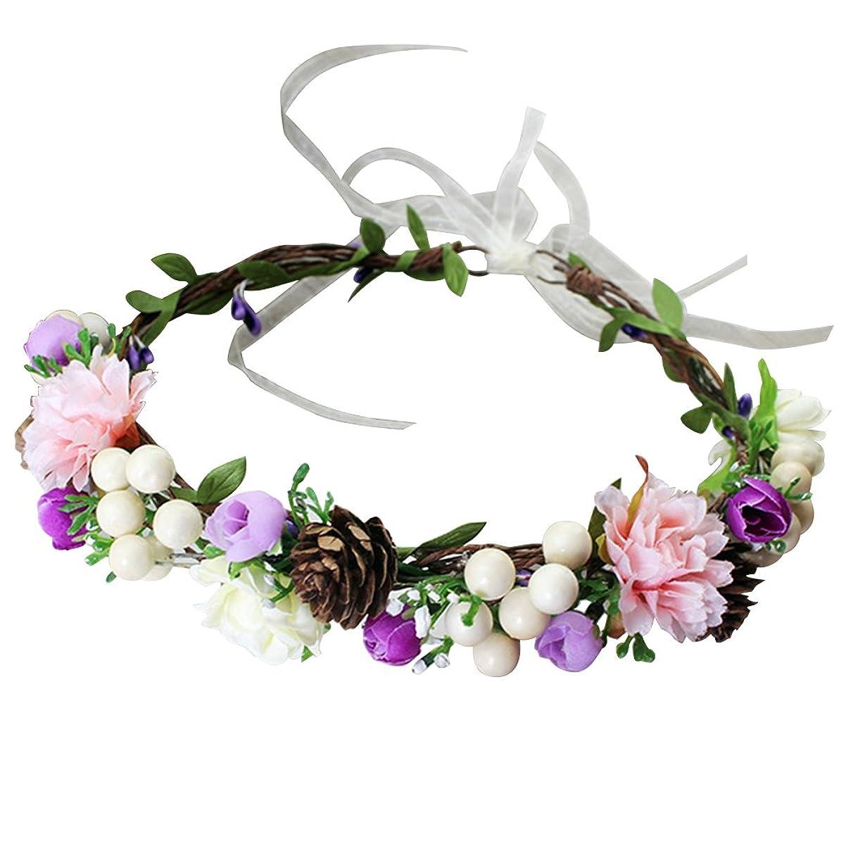 繁栄する忘れっぽい蛇行WINOMO 花かんむり 花冠 花飾り ヘアアクセサリー ブライダル ウェディング 結婚式 花嫁 写真 発表会