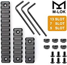XIANGBAN M-Lok Picatinny Rail 5-Slot 7-Slot 13-Slot 3 Pack Lightweight Aluminum Converter for Compatible Hand Rail Systems with 6 T-Nuts and 6 Screws & 3 Allen Wrench