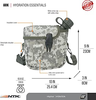 NTK ARK OD Military Style Scout Squared Insulated Cover Canteen 2qt Capacity