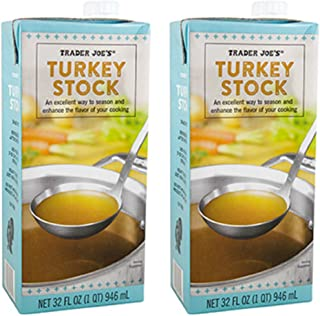 2 Pack Trader Joe's Turkey Stock 64 oz.