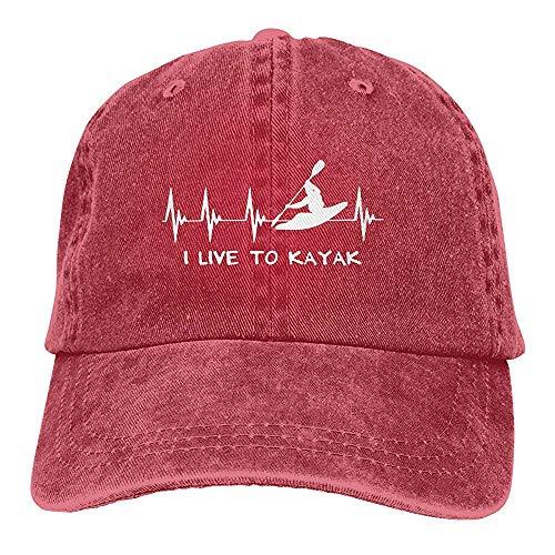 Egoa hoed unisex leef ik voor kajak-vintage verstelbare chique denim-Vati-hoed baseballmuts