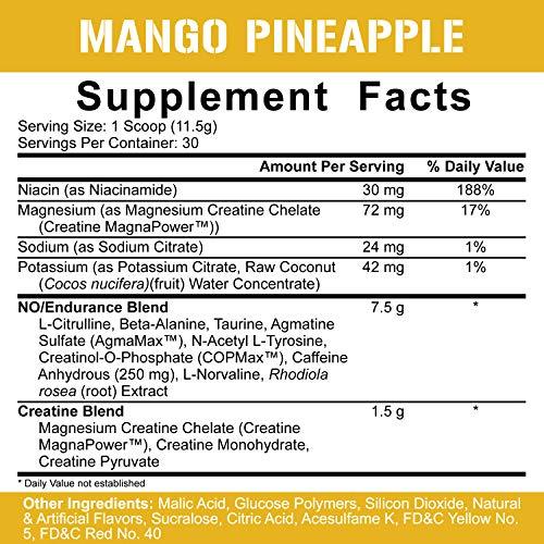 Rich Piana 5% Nutrition Kill IT Pre Workout Powder w/ Creatine, Jitter-Free Caffeine, NO-Booster, Beta Alanine, L-Citrulline for Focus, Pump, Endurance, Recovery 13.23 oz, 30 Srvgs (Mango Pineapple)
