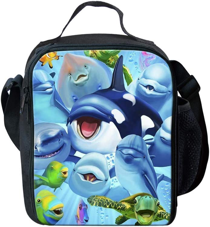 Upetstory Kids Lunch Boxes Now Sale item free shipping Organizer Cute Dolphin Print Ba