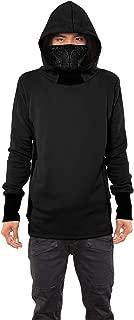 Men's Nobunga Hoodie Japanese Turtle Neck Gaiter Urban Printed Pullover Outwear